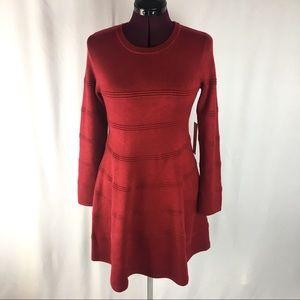 NWT Eliza J Red Sweater Dress Long Sleeve Sz Large